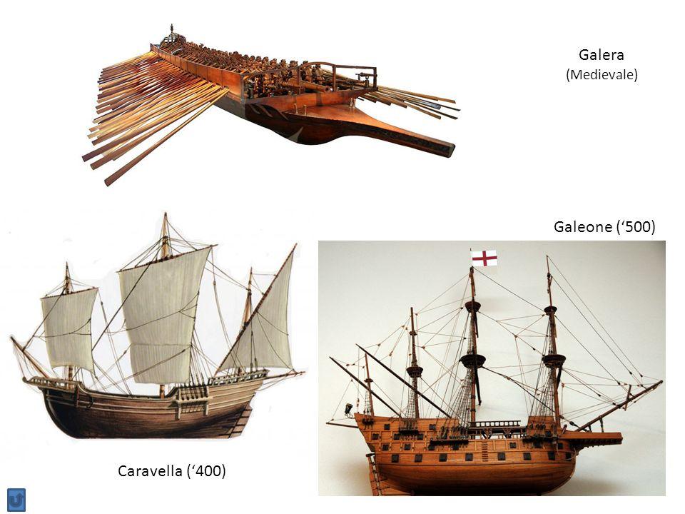 Galera (Medievale) Galeone ('500) Caravella ('400)