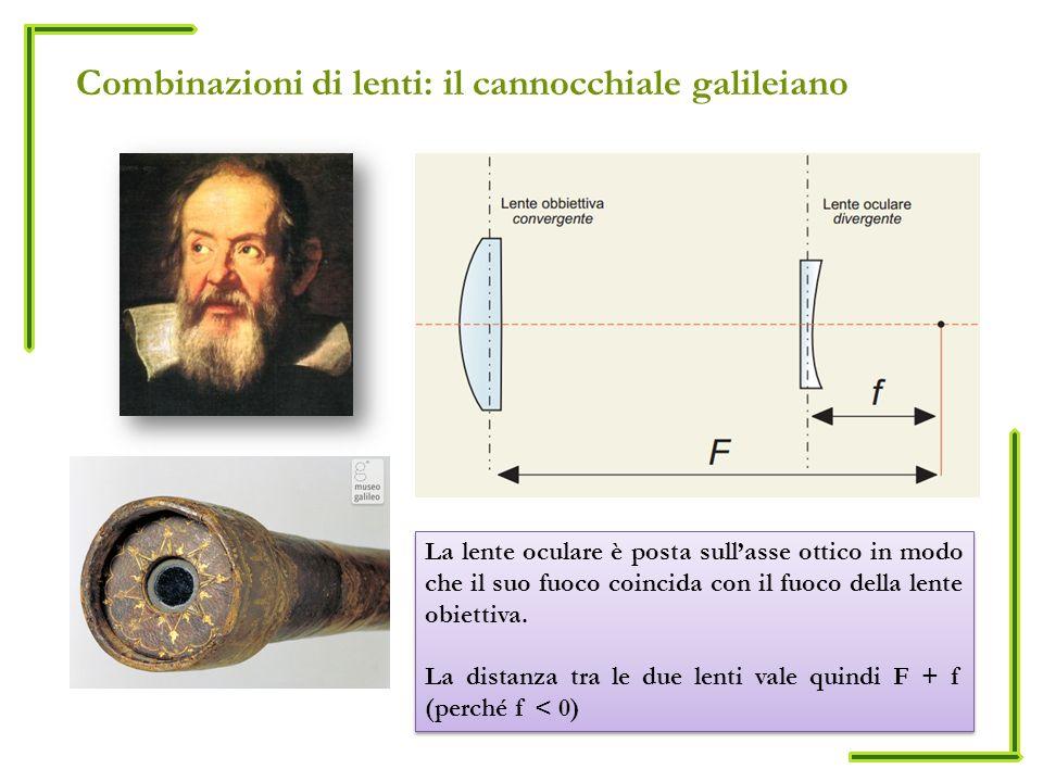 Combinazioni di lenti: il cannocchiale galileiano