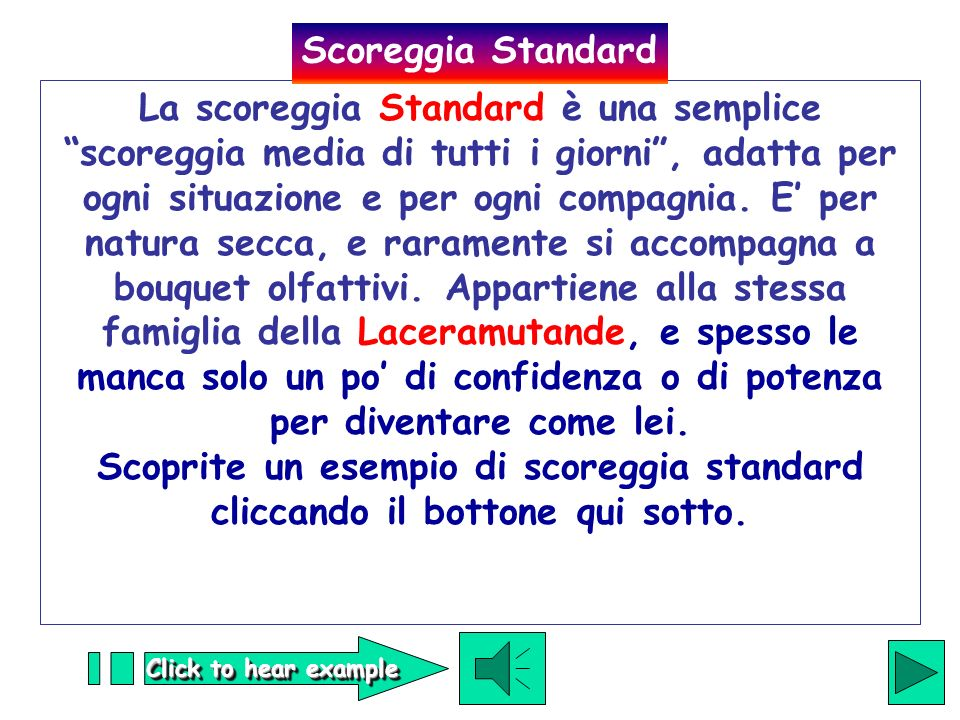 Scoreggia Standard