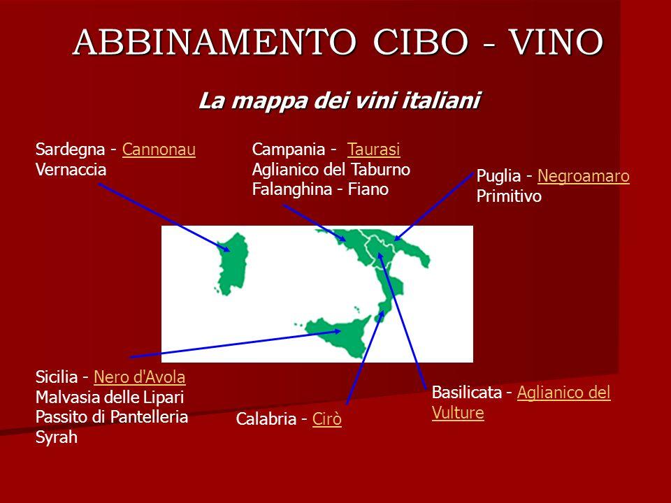 ABBINAMENTO CIBO - VINO
