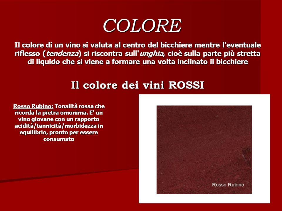 Il colore dei vini ROSSI