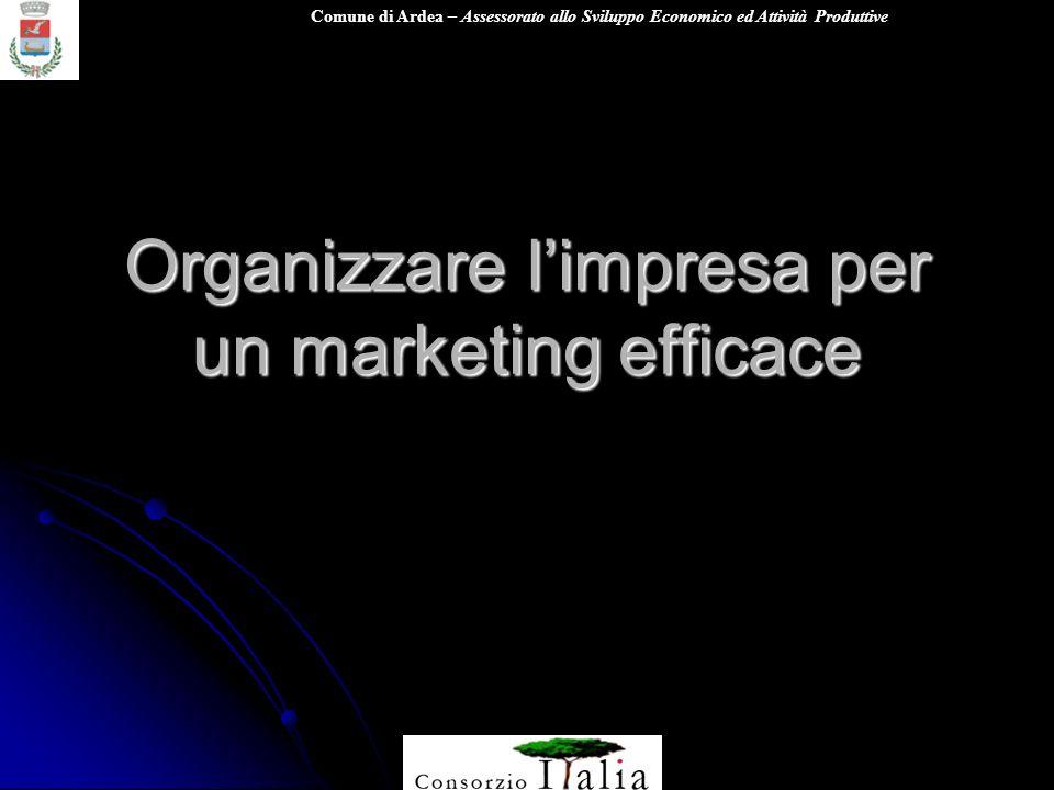 Organizzare l'impresa per un marketing efficace