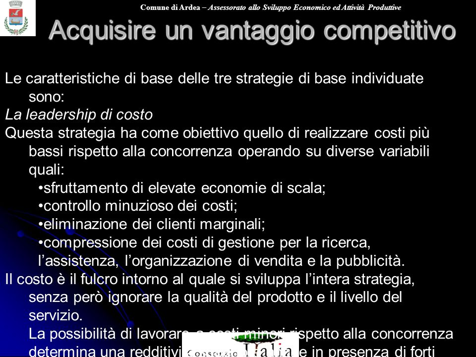 Acquisire un vantaggio competitivo