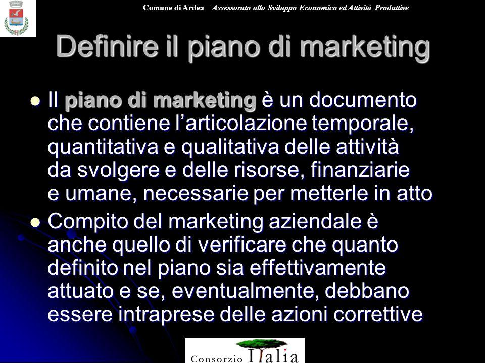 Definire il piano di marketing