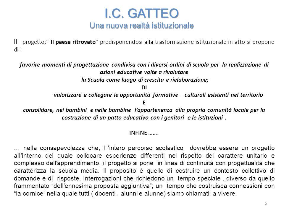 I.C. GATTEO Una nuova realtà istituzionale