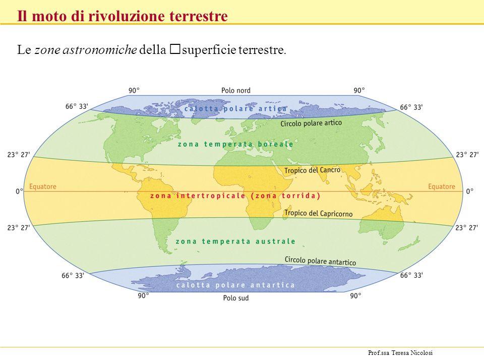 Le zone astronomiche della superficie terrestre.