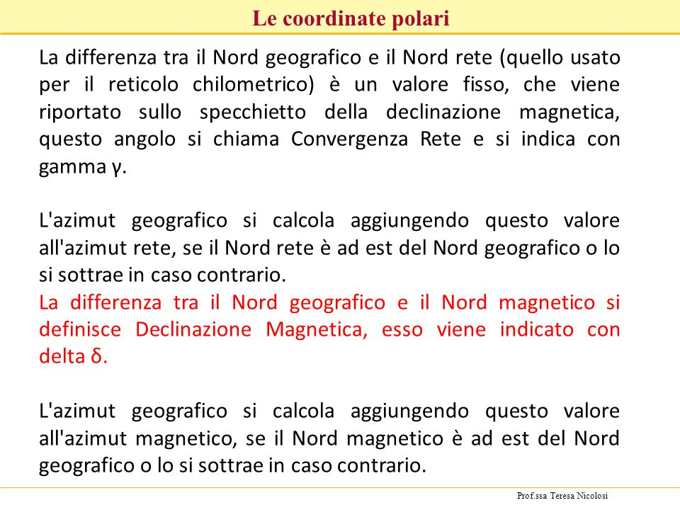 Le coordinate polari