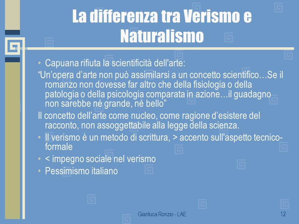 La differenza tra Verismo e Naturalismo