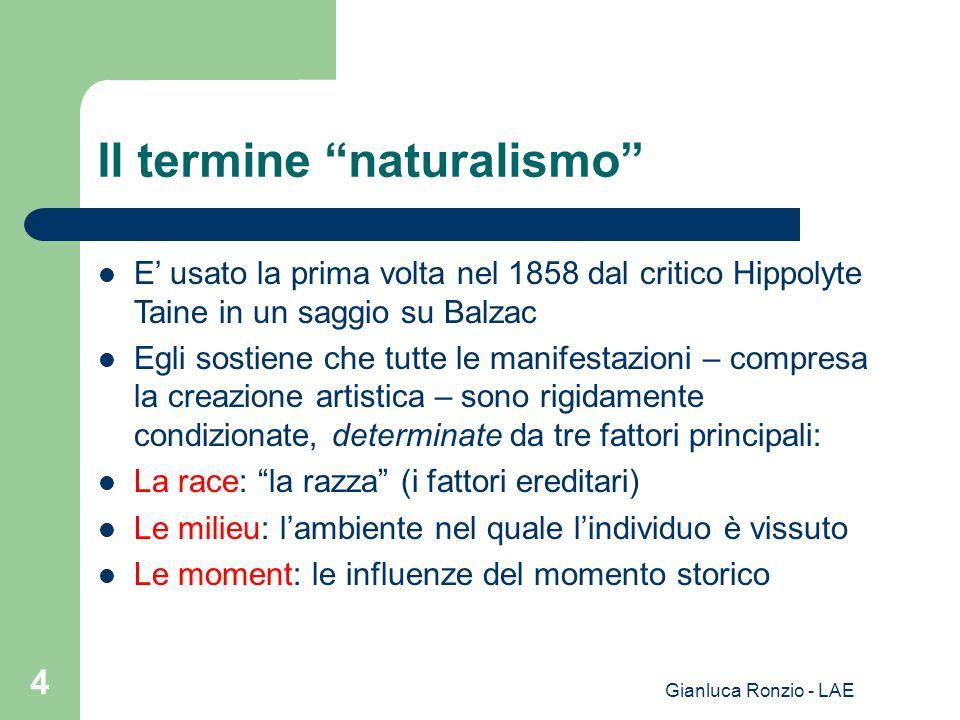 Il termine naturalismo