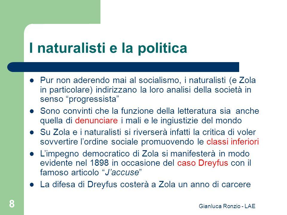 I naturalisti e la politica