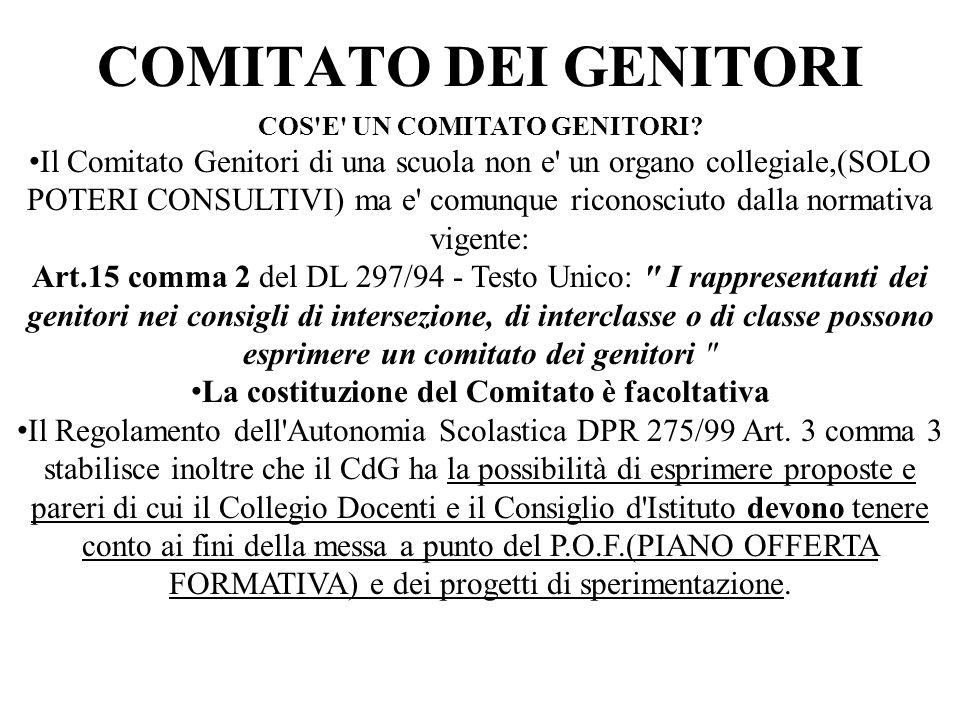 COMITATO DEI GENITORI COS E UN COMITATO GENITORI