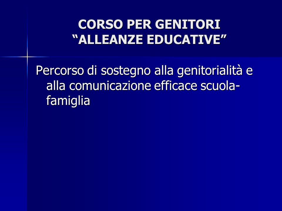 CORSO PER GENITORI ALLEANZE EDUCATIVE