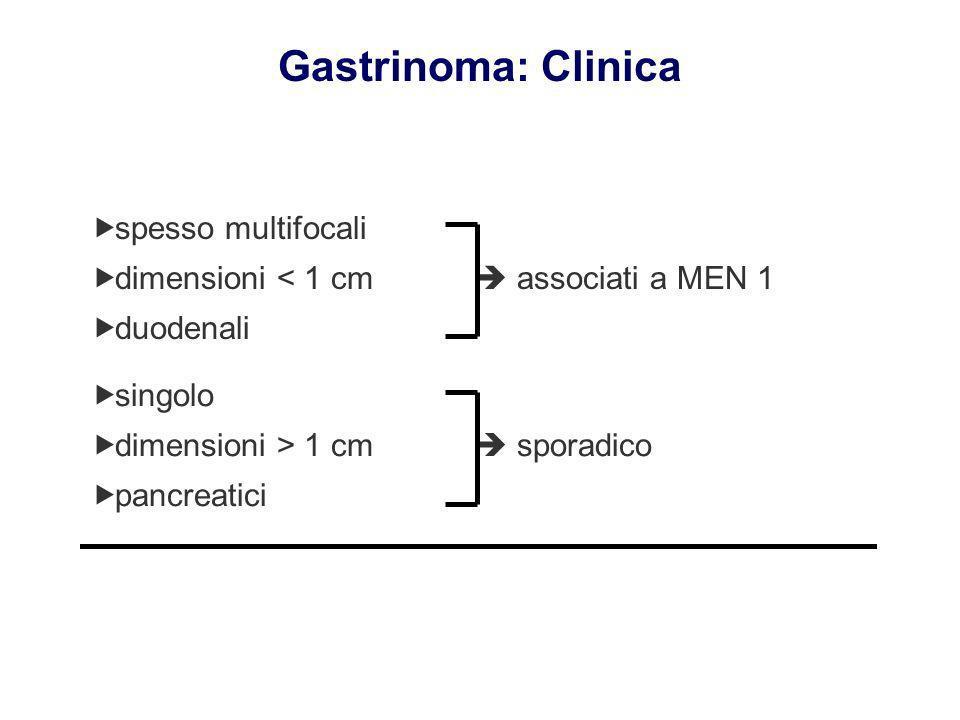 Gastrinoma: Clinica spesso multifocali