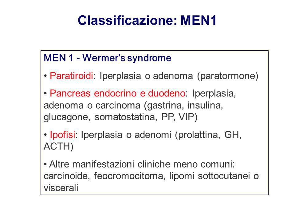 Classificazione: MEN1 MEN 1 - Wermer's syndrome