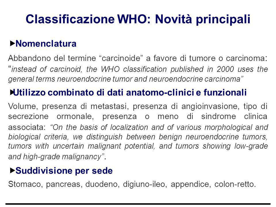 Classificazione WHO: Novità principali