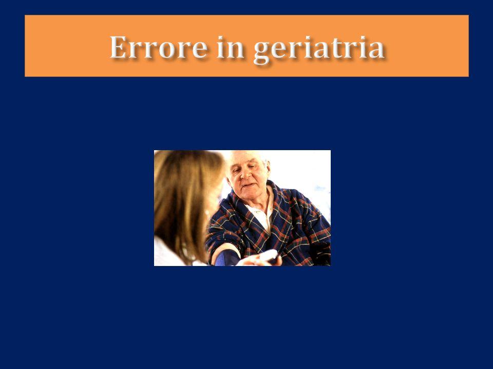 Errore in geriatria