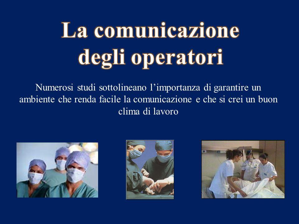La comunicazione degli operatori