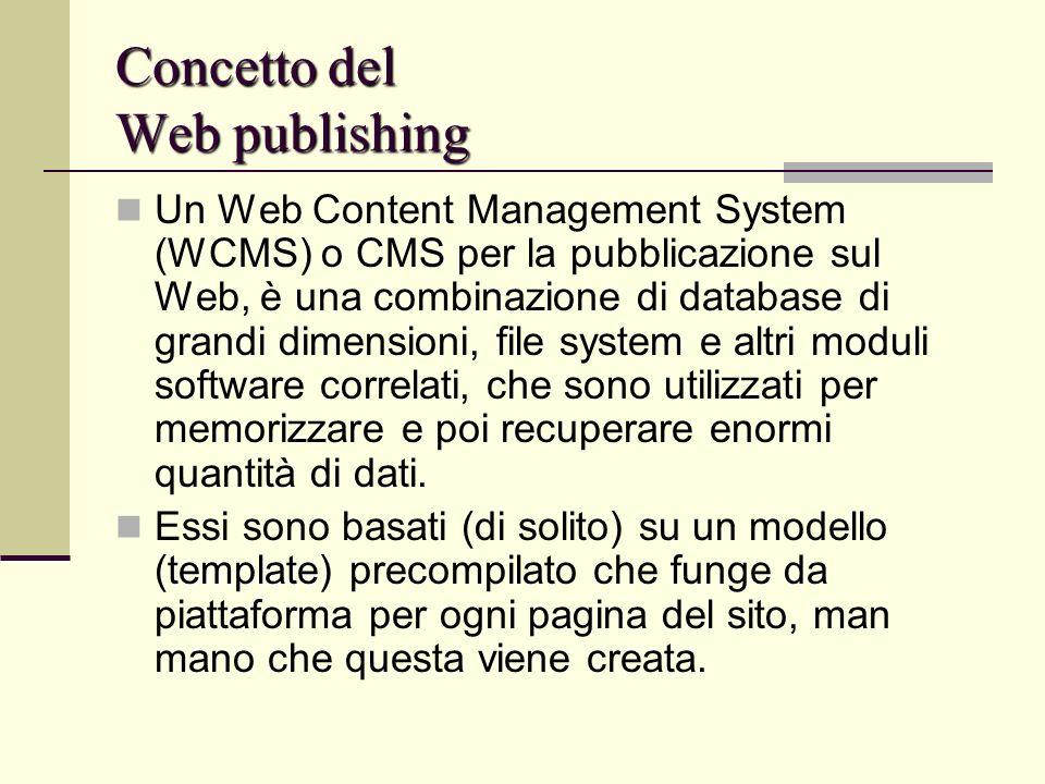 Concetto del Web publishing