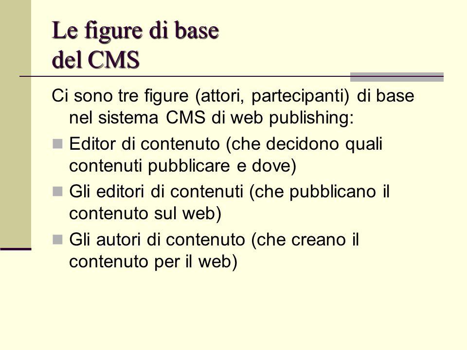 Le figure di base del CMS