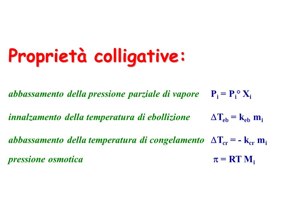 Proprietà colligative: