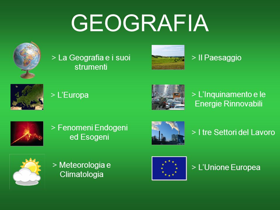 GEOGRAFIA > La Geografia e i suoi strumenti > Il Paesaggio