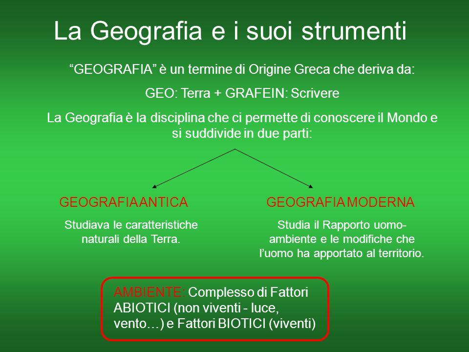 La Geografia e i suoi strumenti
