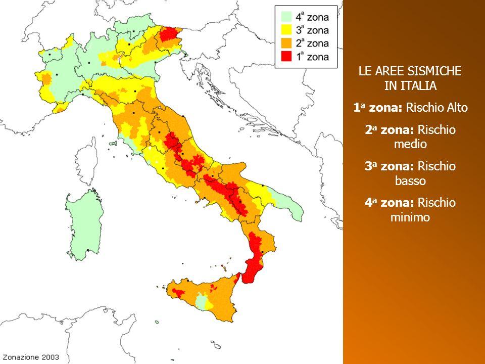 LE AREE SISMICHE IN ITALIA