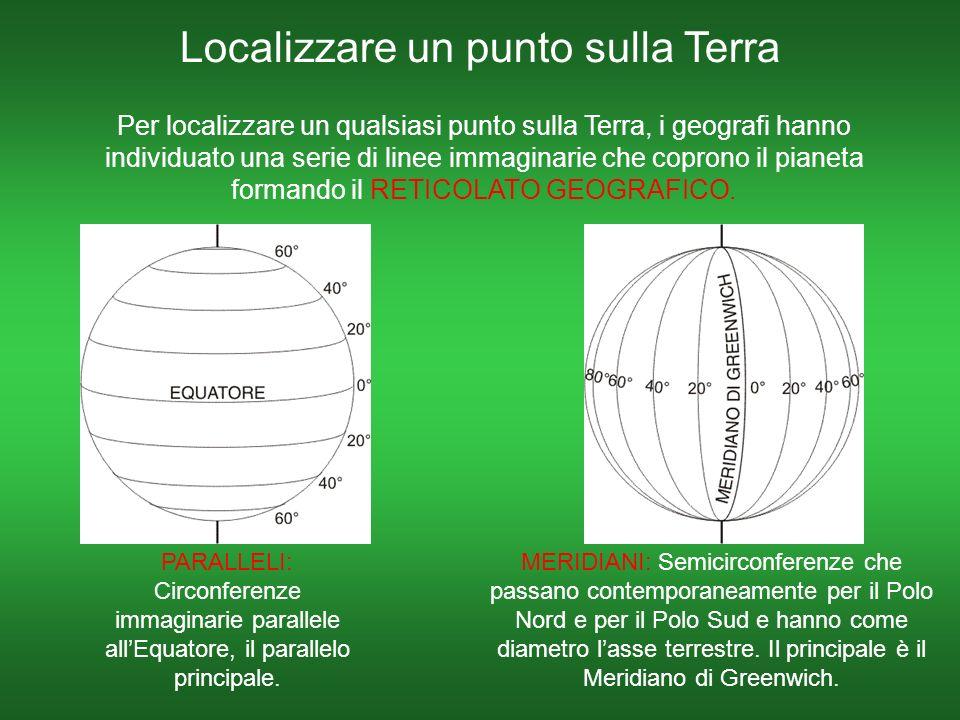Localizzare un punto sulla Terra