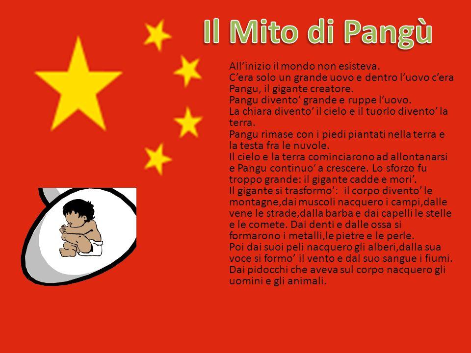 Il Mito di Pangù All'inizio il mondo non esisteva.
