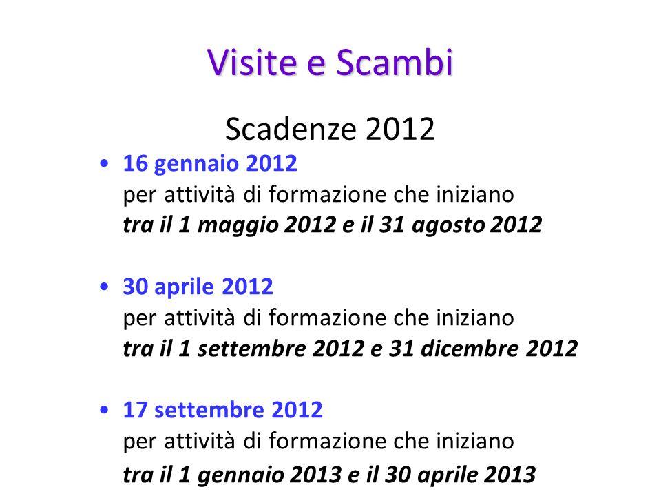 Visite e Scambi Scadenze 2012
