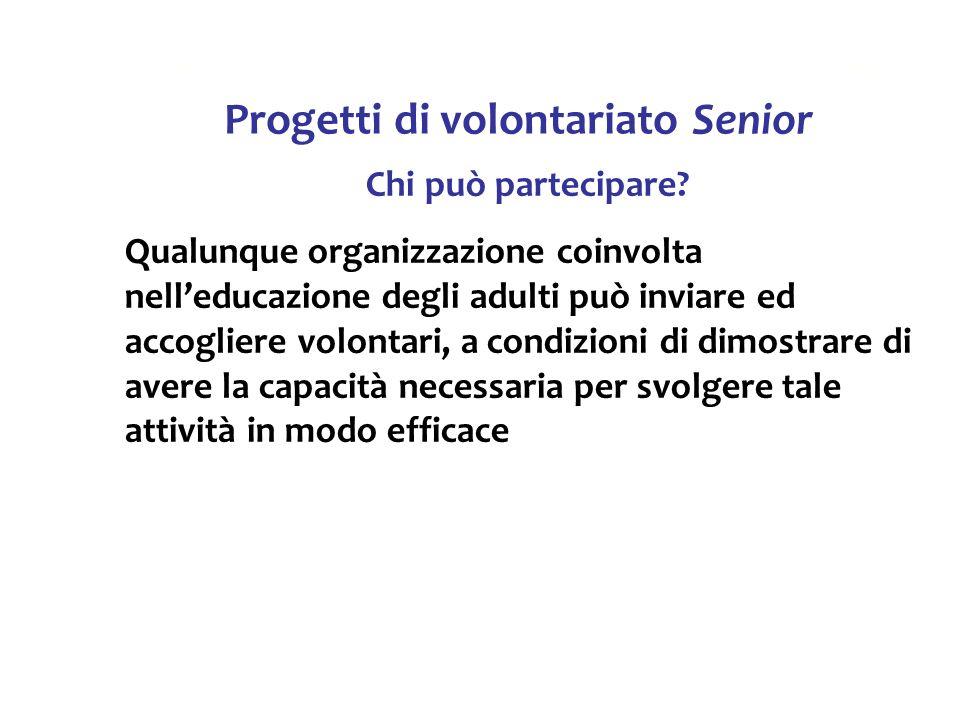 Progetti di volontariato Senior