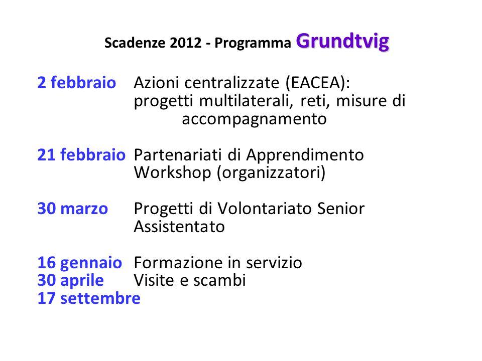 Scadenze 2012 - Programma Grundtvig