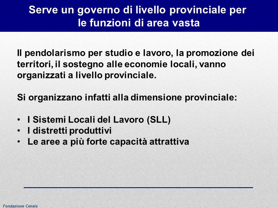 Serve un governo di livello provinciale per le funzioni di area vasta