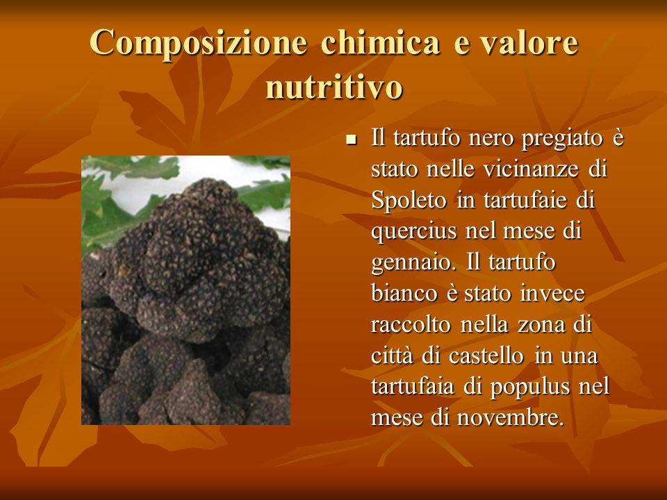 Composizione chimica e valore nutritivo