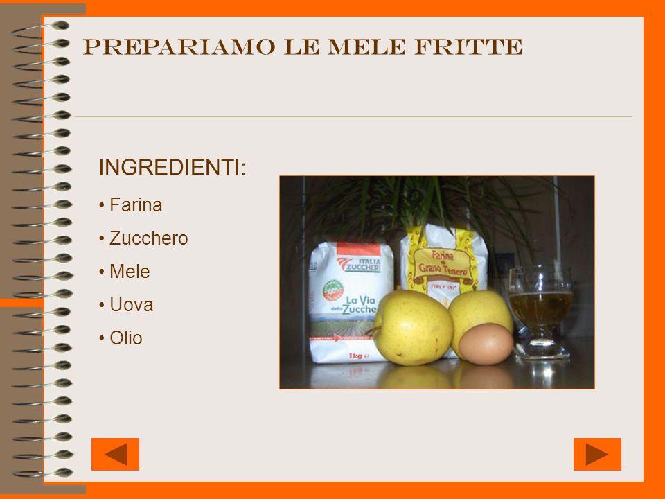 PREPARIAMO LE MELE fritte