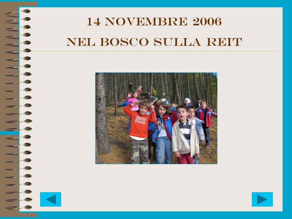 14 NOVEMbre 2006 NEL BOSCO SULLA REIT