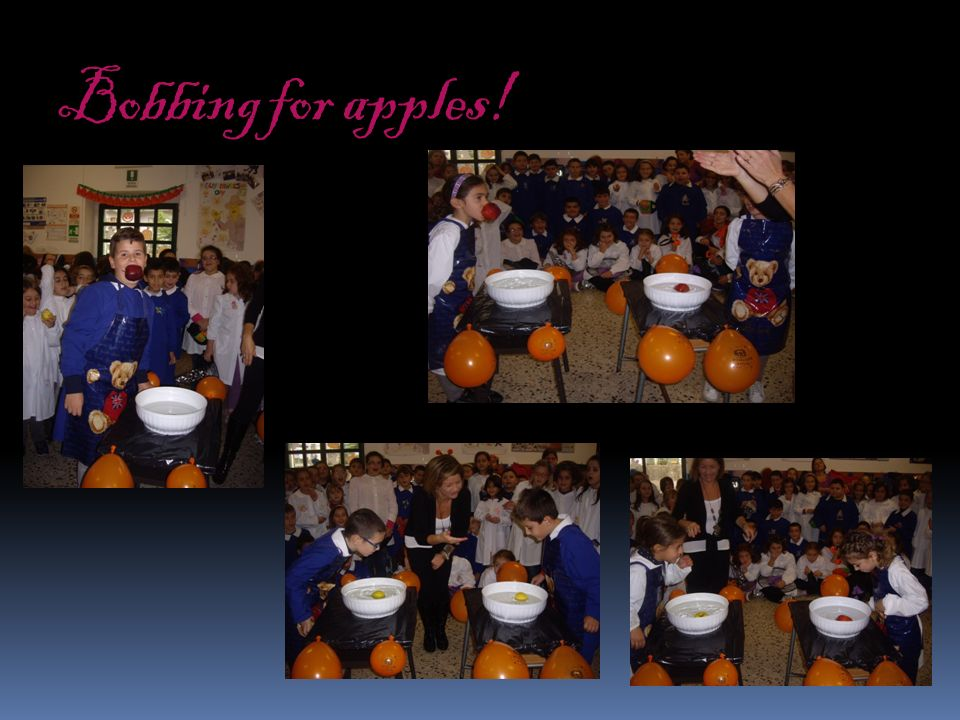 Bobbing for apples!