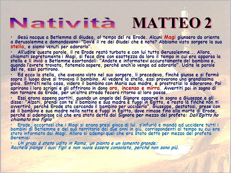 MATTEO 2 Natività.