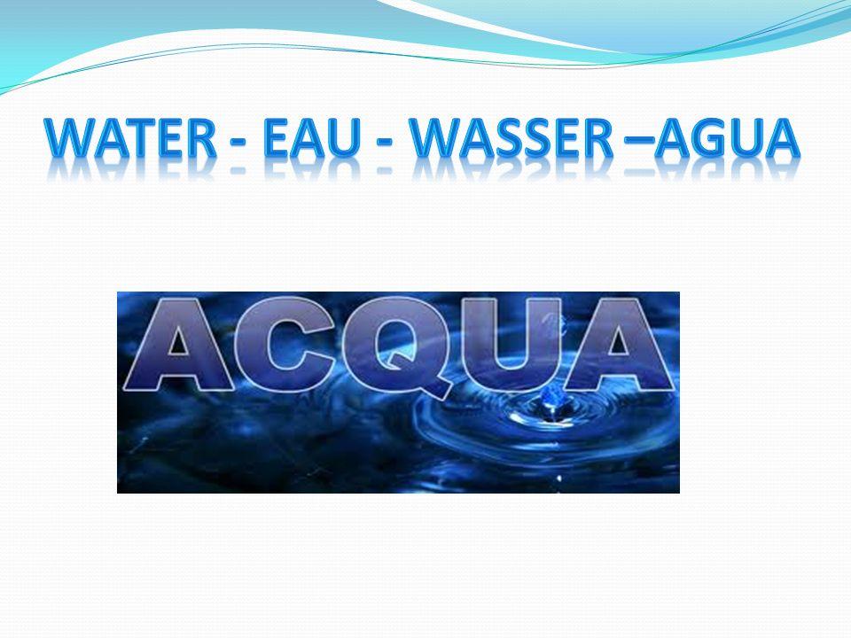 WATER - EAU - WASSER –AGUA