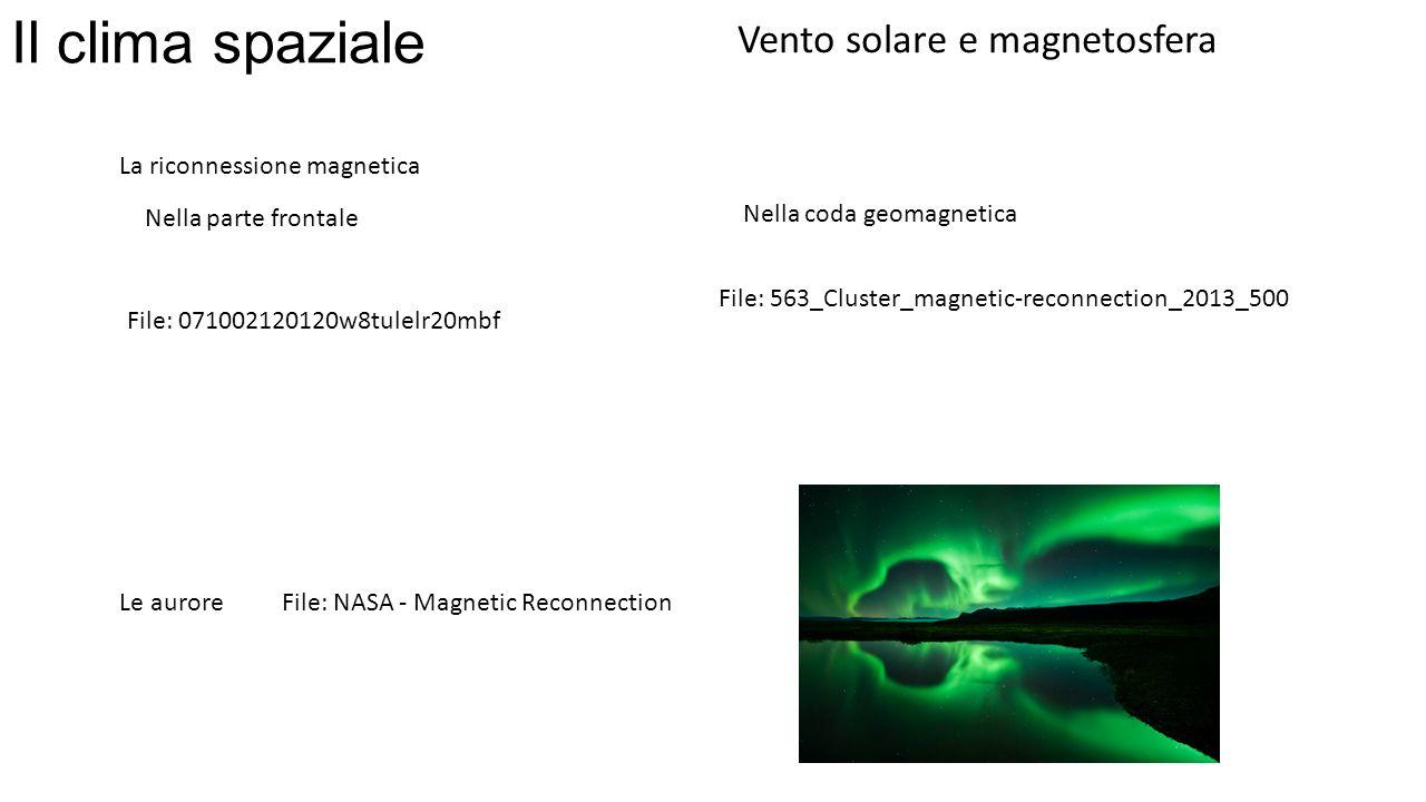 Il clima spaziale Vento solare e magnetosfera
