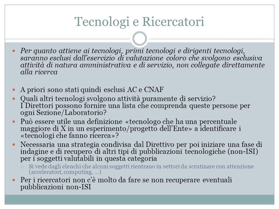 Tecnologi e Ricercatori