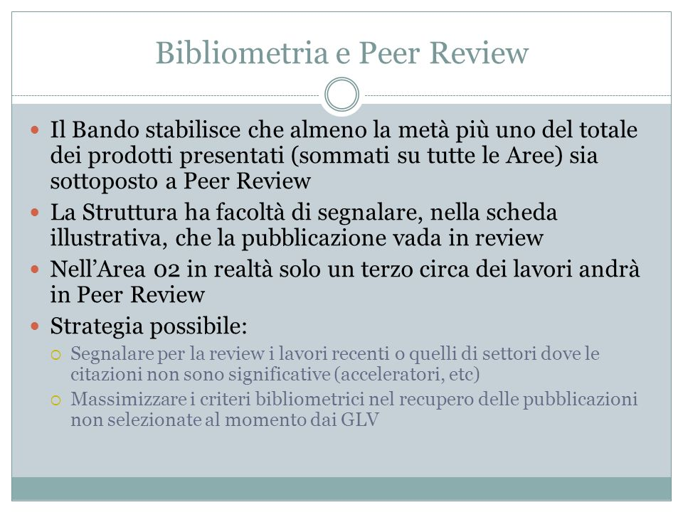 Bibliometria e Peer Review