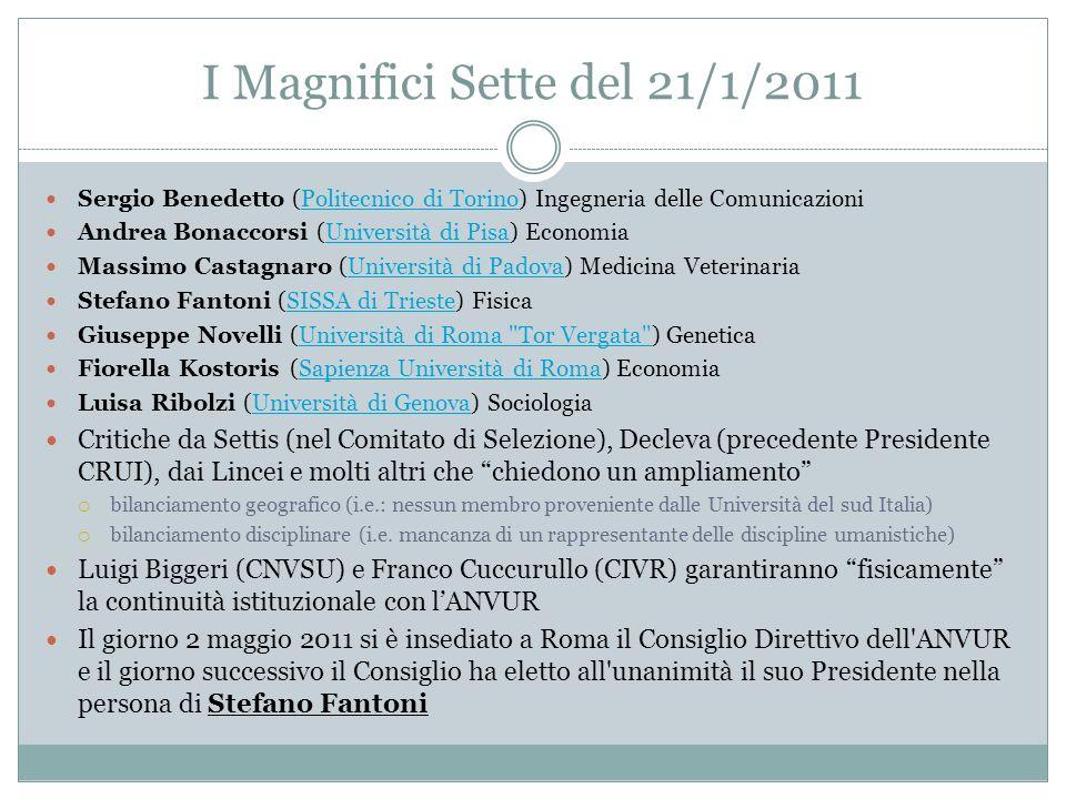 I Magnifici Sette del 21/1/2011