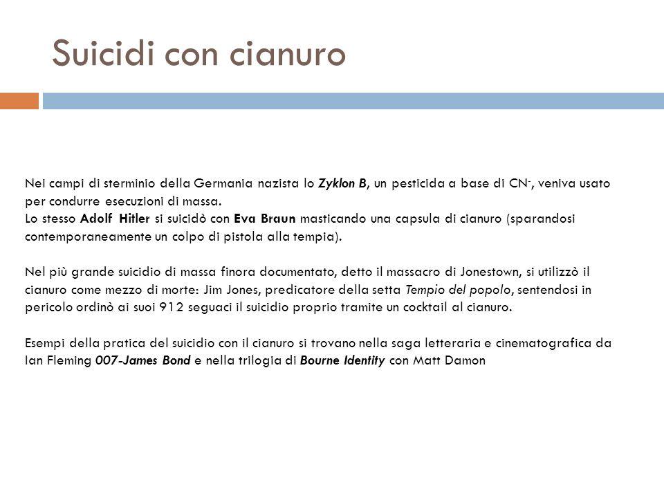 Suicidi con cianuro