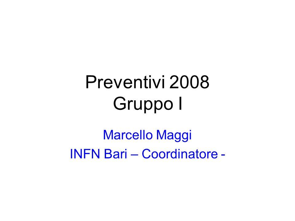 Marcello Maggi INFN Bari – Coordinatore -