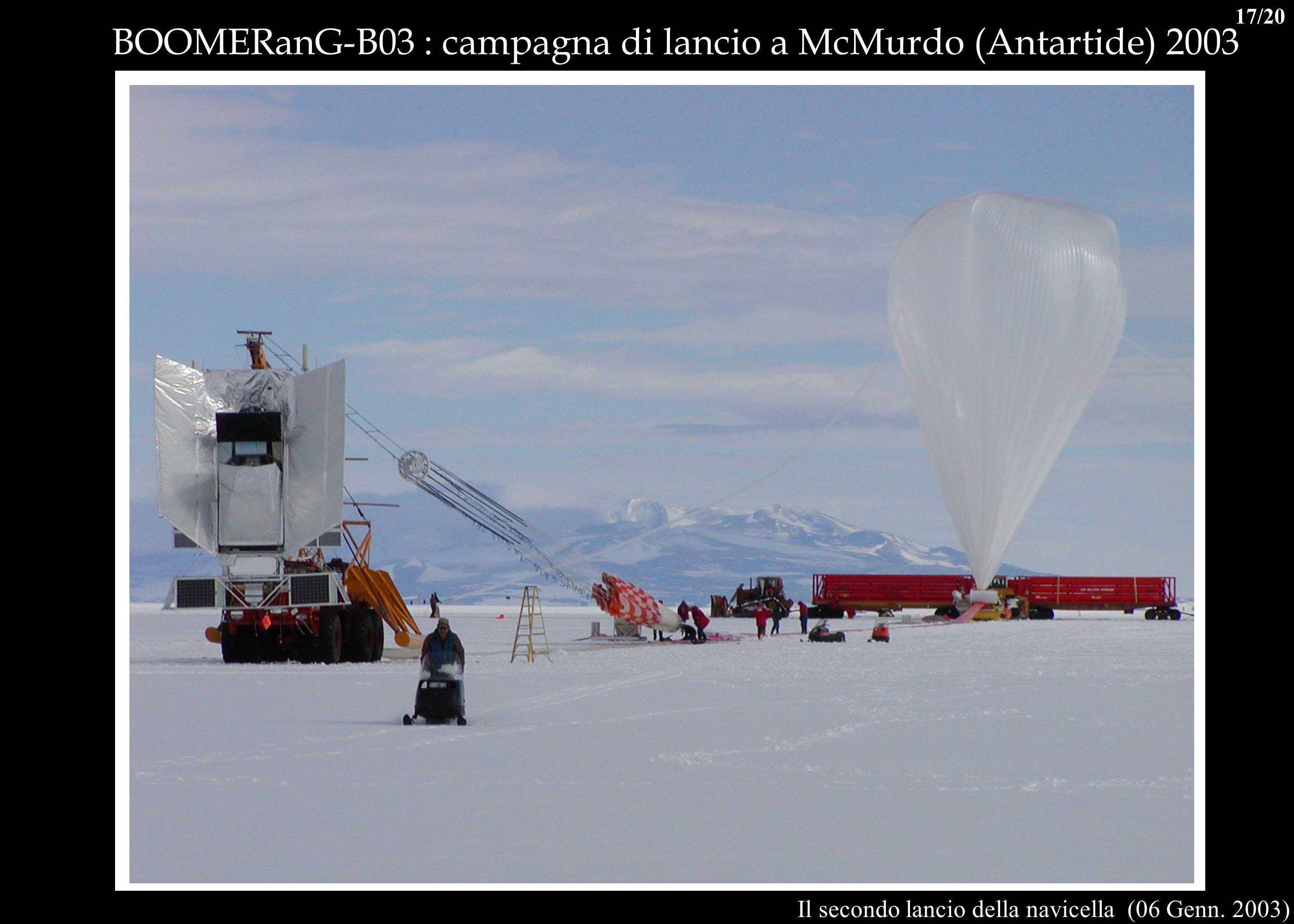 BOOMERanG-B03 : campagna di lancio a McMurdo (Antartide) 2003