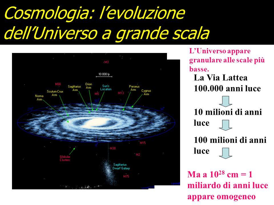 Cosmologia: l'evoluzione dell'Universo a grande scala