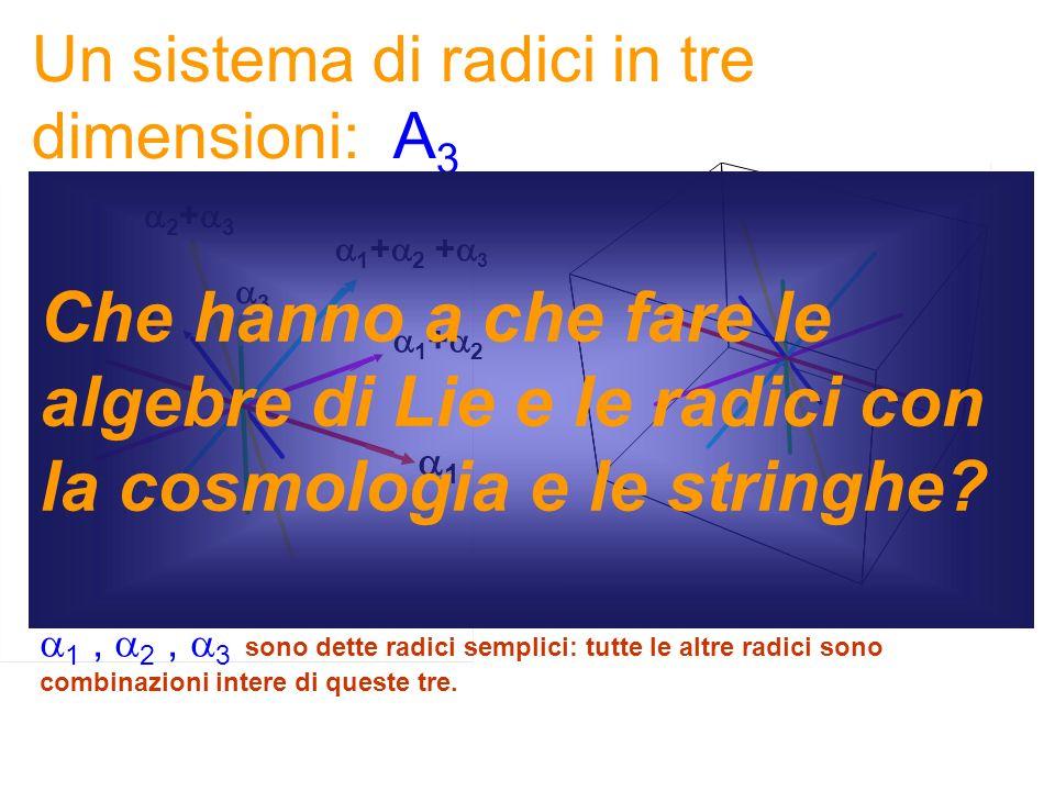 Un sistema di radici in tre dimensioni: A3