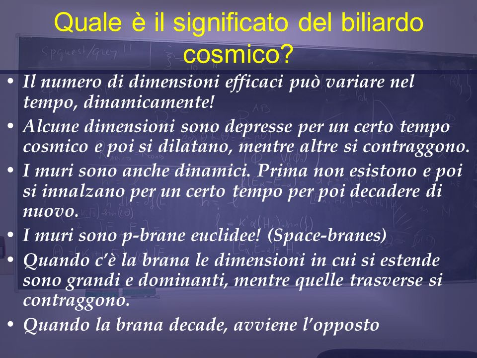 Quale è il significato del biliardo cosmico