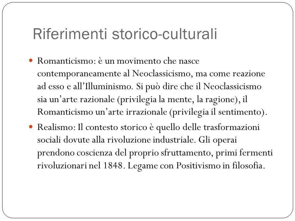 Riferimenti storico-culturali